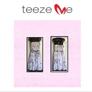 TEEZE ME Floral black and white dress.EUC